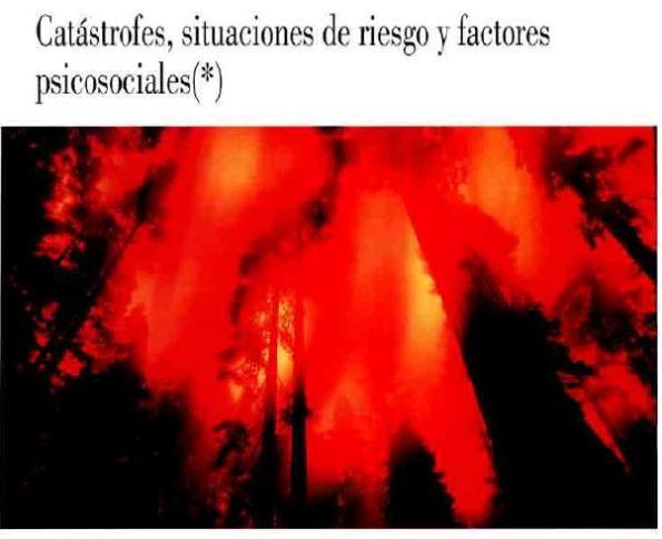 CATÁSTROFES, SITUACIONES de RIESGO y FACTORES PSICOSOCIALES