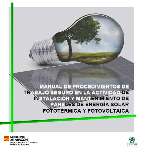 MANUAL de PTS en INSTALACIÓN y MANTENIMIENTO de PANELES de ENERGÍA SOLAR FOTOTÉRMICA y FOTOVOLTAICA