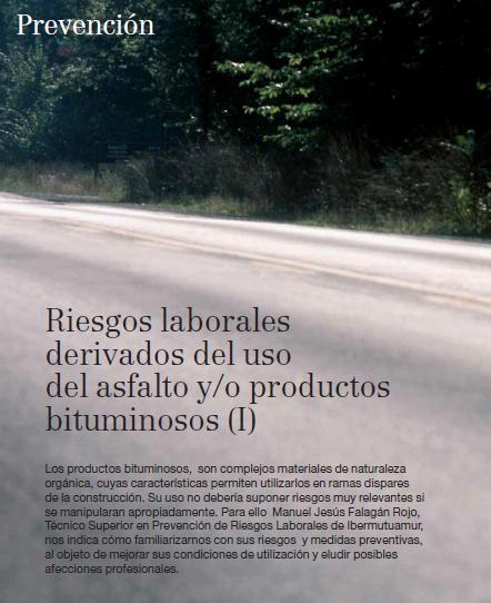 RIESGOS LABORALES derivados del USO del ASFALTO y-o PRODUCTOS BITUMINOSOS - 01