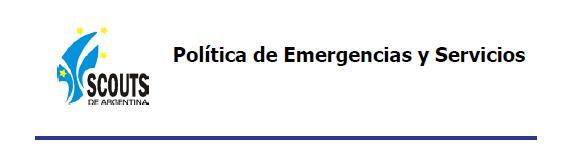 POLÍTICA de EMERGENCIAS y SERVICIOS