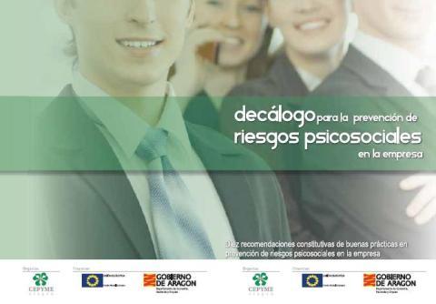 DECÁLOGO para la PREVENCIÓN de RIESGOS PSICOSOCIALES en la Empresa