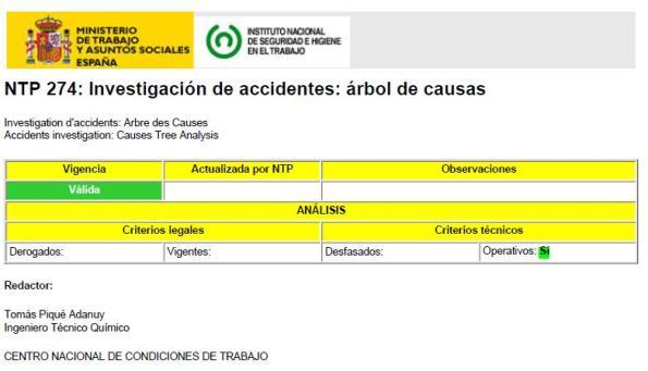 INVESTIGACIÓN de ACCIDENTES - ÁRBOL de CAUSAS
