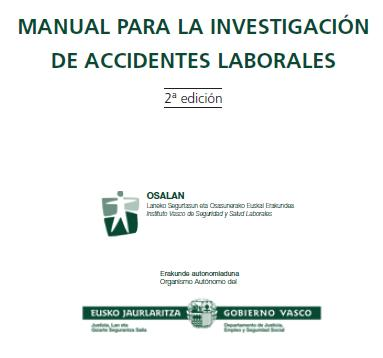 MANUAL para la INVESTIGACION de ACCIDENTES LABORALES