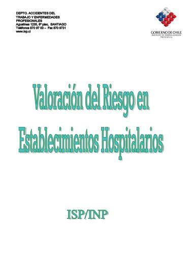 VALORACIÓN del RIESGO en ESTABLECIMIENTO HOSPITALARIOS