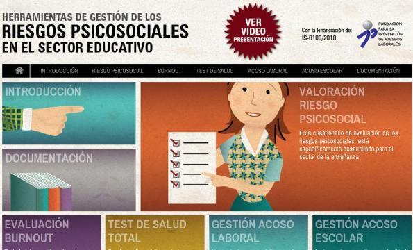 HERRAMIENTAS de GESTIÓN RIESGOS PSICOSOCIALES en SECTOR EDUCATIVO