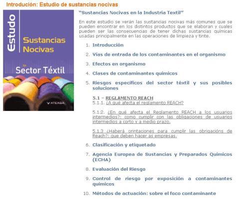 IND TEXTIL - SUSTANCIAS NOCIVAS