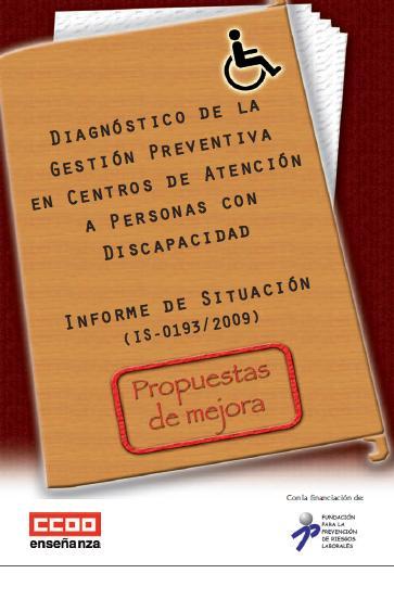 DIAGNÓSTICO de la GESTIÓN PREVENTIVA en CENTROS de ATENCIÓN a PERSONAS con DISCAPACIDAD
