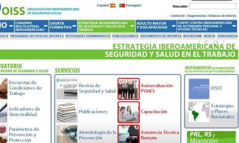 ORGANIZACIÓN IBEROAMERICANA DE SEGURIDAD SOCIAL. Para acceder a la página clikear en la imágen.