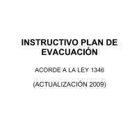 LEY 1346 - MODELO PLAN DE EVACUACIÓN - CABA