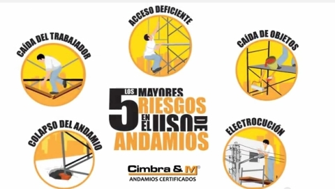 5 RIESGOS EN ANDAMIOS