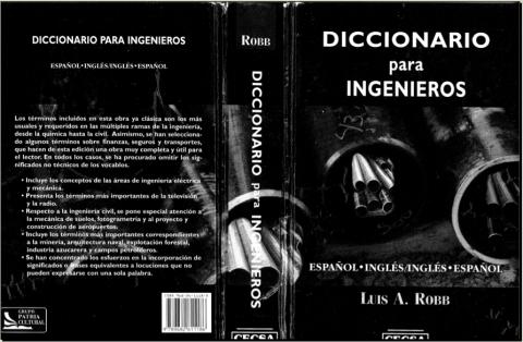 DICCIONARIO para INGENIEROS-ESPAÑOL.INGLÉS-INGLÉS.ESPAÑOL
