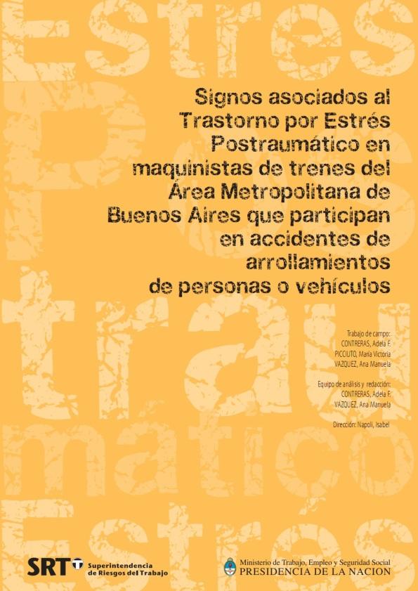 ESTRES POSTRAUMATICO EN MAQUINISTAS DE TRENES